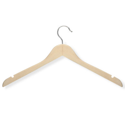 Honey-Can-Do® 20-Pack Basic Wood Shirt Hangers