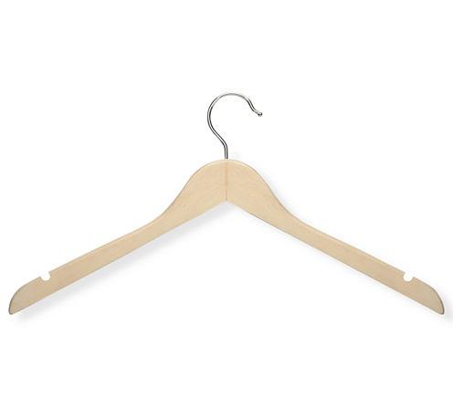 Honey-Can-Do® 20-Pack Basic Wood Shirt Hangers