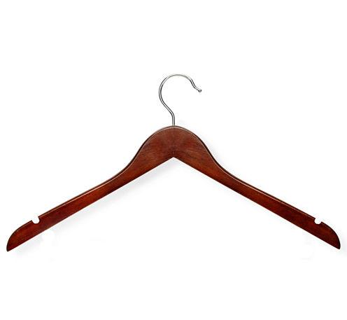 Honey-Can-Do® Basic Cherry Wood Shirt Hangers Pack of 20
