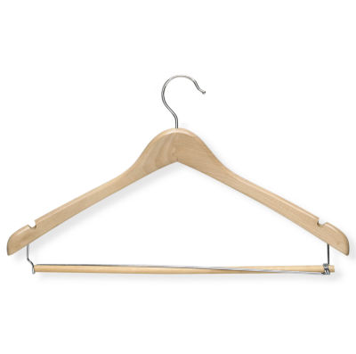 Maple Contoured Suit Hanger + Locking Bar