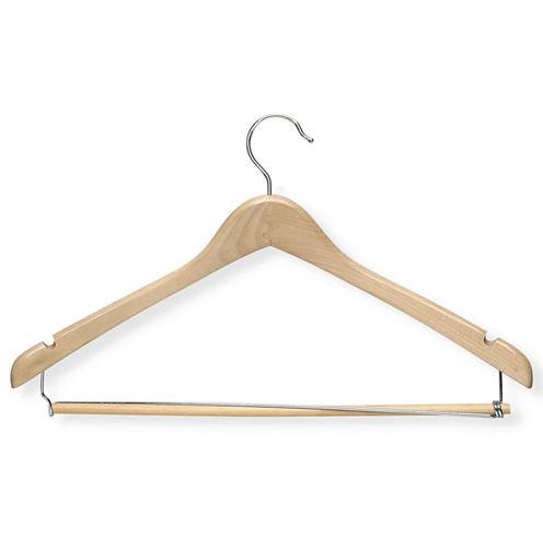 Maple Contoured Suit Hanger + Locking Bar