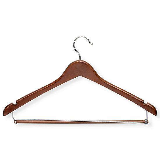 Honey Can Do Cherry Contoured Suit Hanger Locking Bar