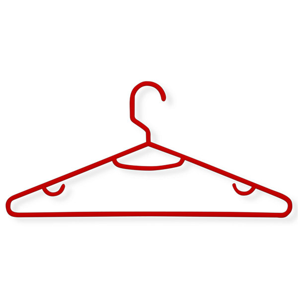 Honey-Can-Do® 60-Pack Red Recycled Plastic Hangers
