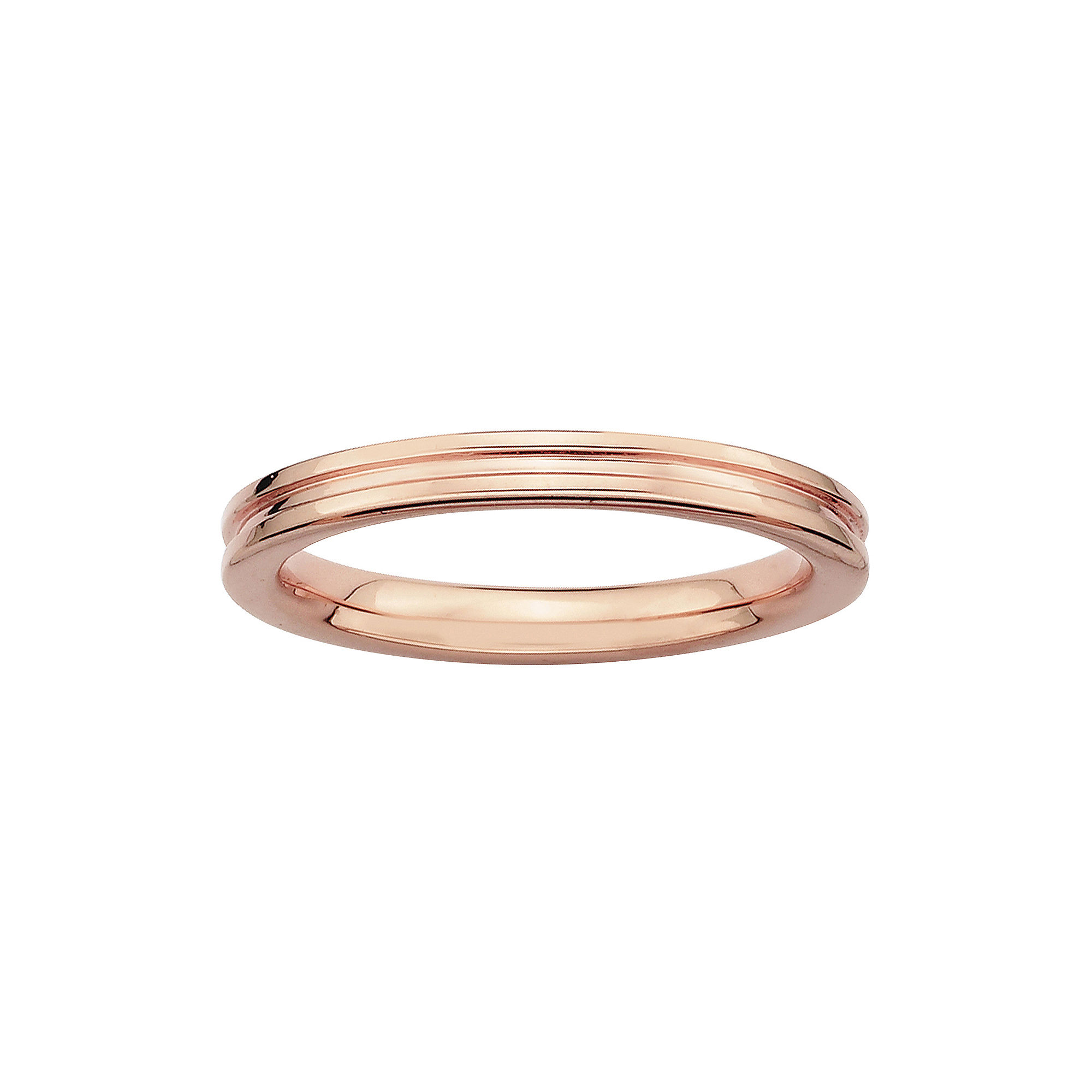 Personally Stackable 14K Rose Gold Over Sterling Silver Step-Down Ring