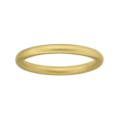Personally Stackable 18K Yellow Gold Over Sterling Silver Satin Ring