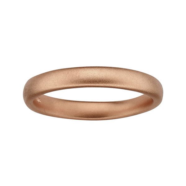 Personally Stackable 18K Rose Gold Over Sterling Silver Square-Edge Satin Ring