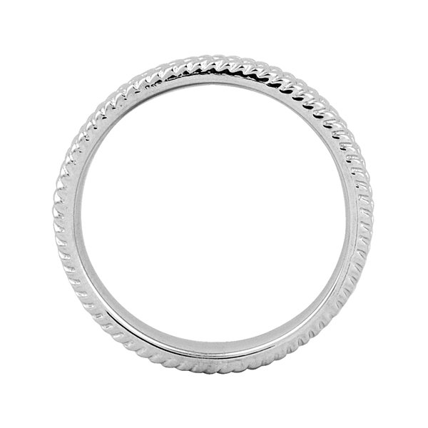 Personally Stackable Sterling Silver 3.25mm Braid Ring