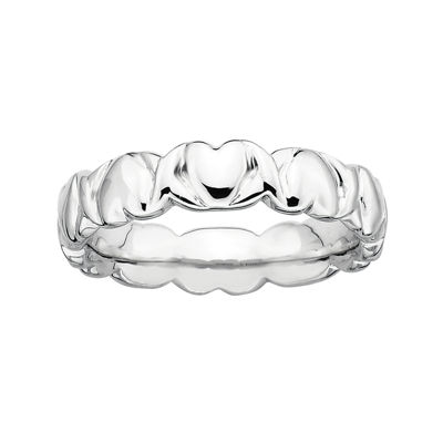 Personally Stackable Sterling Silver 4.5mm Heart Ring