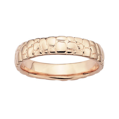 Personally Stackable 18K Rose Gold Over Sterling Silver Stackable Ring