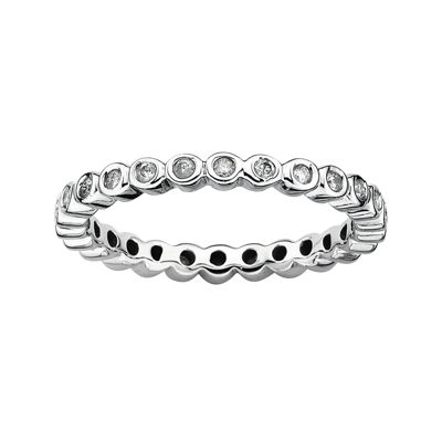 Personally Stackable 1/3 CT. T.W. Diamond Sterling Silver Stackable Ring