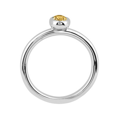 Personally Stackable Oval Genuine Citrine Ring