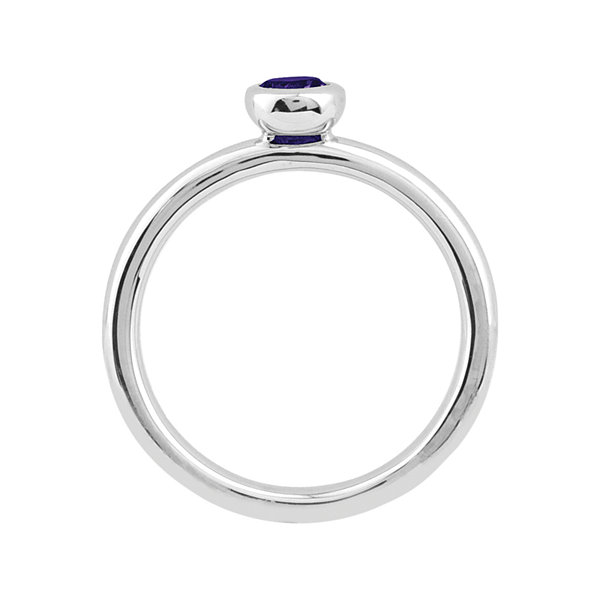 Personally Stackable Round Genuine Amethyst Ring