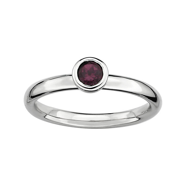 Fine Jewelry Personally Stackable Genuine Garnet Flower Ring f3tOh