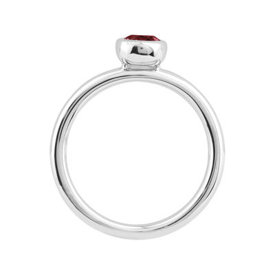 Personally Stackable 5mm Round Lab-Created Ruby Ring