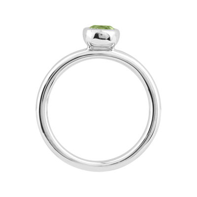 Personally Stackable 5mm Round Genuine Peridot Ring