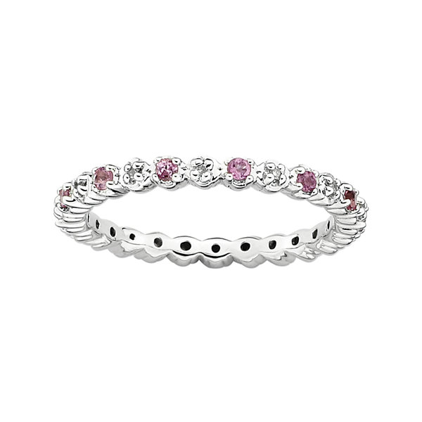 Fine Jewelry Personally Stackable 1/7 CT. T.W. Diamond Eternity Ring Qiuo1