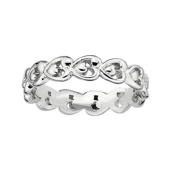 Personally Stackable Sterling Silver Heart Ring