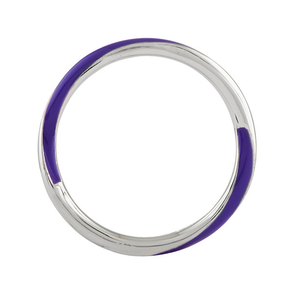 Personally Stackable Sterling Silver Twisted Purple Enamel Ring