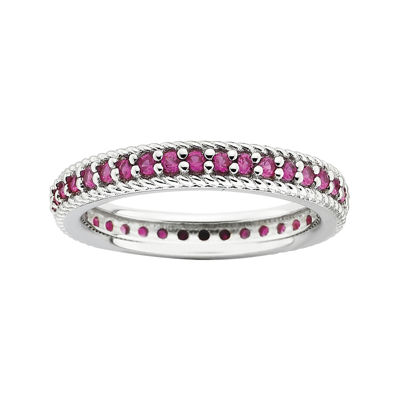 Personally Stackable Lab-Created Ruby Eternity Ring