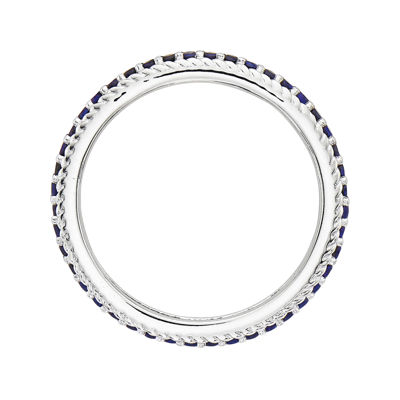 Personally Stackable Lab-Created Blue Sapphire Eternity Ring