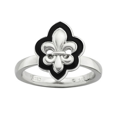 Personally Stackable Fleur-de-Lis Ring