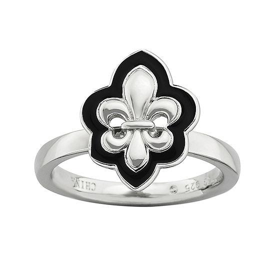 Personally Stackable Fleur-de-Lis Ring