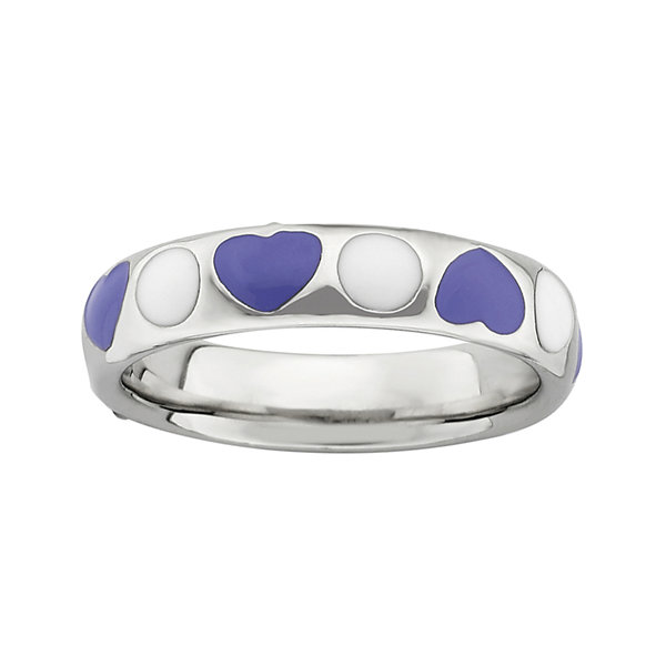 Personally Stackable Sterling Silver and Enamel Ring