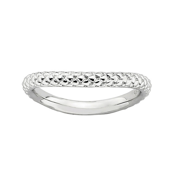 Personally Stackable Sterling Silver Cable Wave Ring