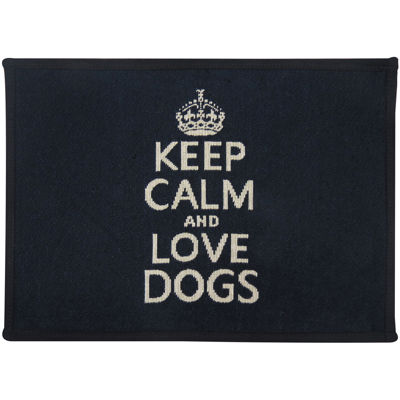 PB Paws by Park B. Smith® Keep Calm & Love Dogs Pet Mat