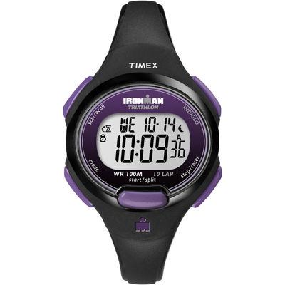 Timex® Womens Black Resin Strap 10-Lap Watch T5K5239J
