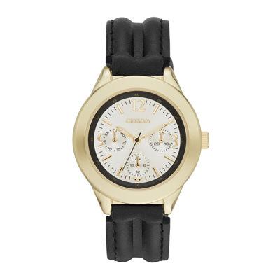 Geneva Womens Black Strap Watch