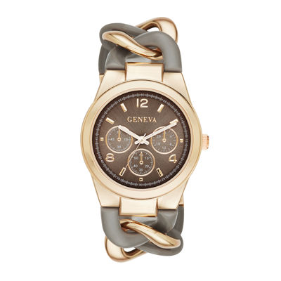 Geneva Womens Two-Tone Chain-Link Bracelet Watch