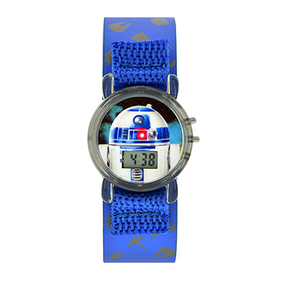 Star Wars® R2-D2 Kids Blue Fast Strap Flashing LCD Digital Watch