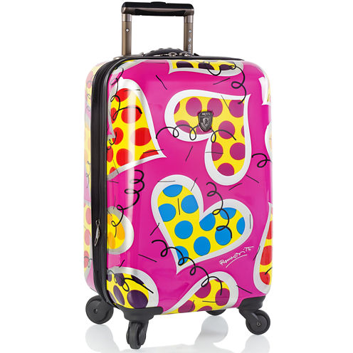 """Heys® Britto Hearts Carnival 21"""" Hardside Carry-On Spinner Upright Luggage"""