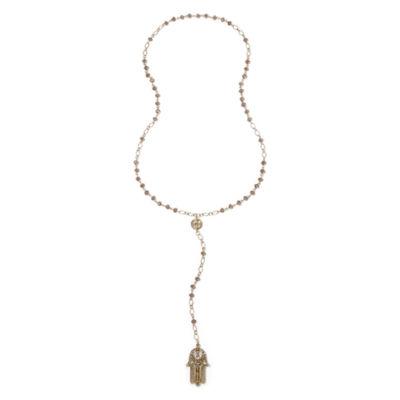 Decree® Hamsa Gold-Tone Y Necklace
