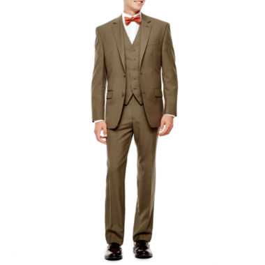 jcpenney.com | IZOD® Light Brown Sharkskin Suit Separates - Classic Fit