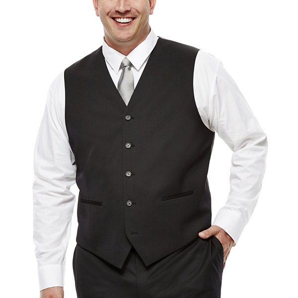 Claiborne® Black Suit Vest - Big & Tall