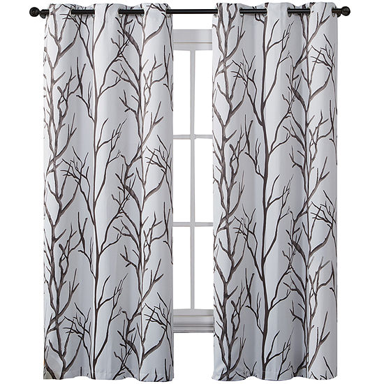 Victoria Classics Kingdom Print Blackout Grommet-Top Curtain Panel