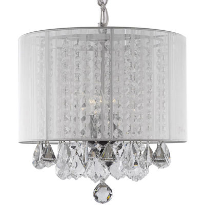 3-Light Crystal Chandelier with Shade