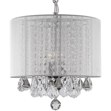 3-Light Crystal Chandelier with Shade - JCPenney