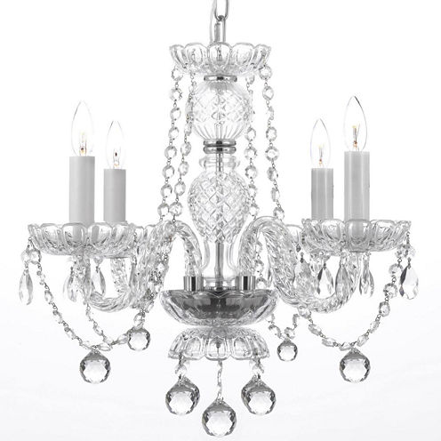 Venetian-Style Crystal Chandelier with Faceted Crystal Balls