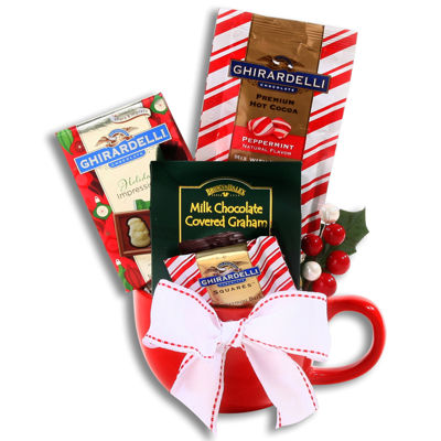 Alder Creek Ghirardelli Peppermint Gift Basket