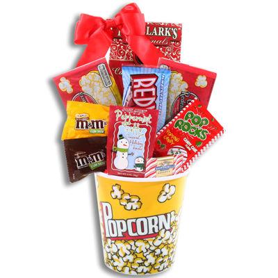 Alder Creek Movie Night Candy and Popcorn Gift Basket