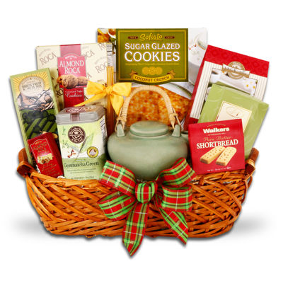 Alder Creek Snow-Time Tea and Cookie Sampler Gift Basket