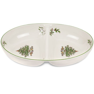 Spode® Christmas Tree 2-Section Divided Dish