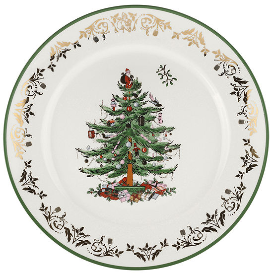 Spode® Christmas Tree Gold Collection Round Porcelain Serving Platter