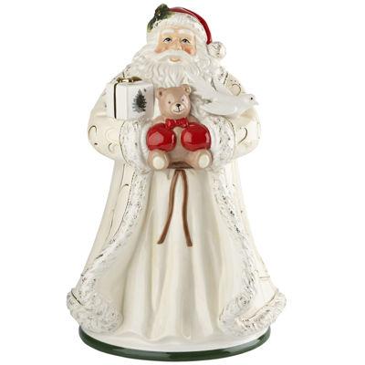 "Spode® Christmas Tree Gold Saint Nick 12"" Santa Cookie Jar"