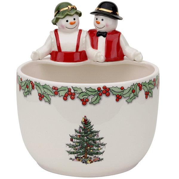 Spode® Christmas Tree Mr. U0026 Mrs. Snowman Candy Bowl