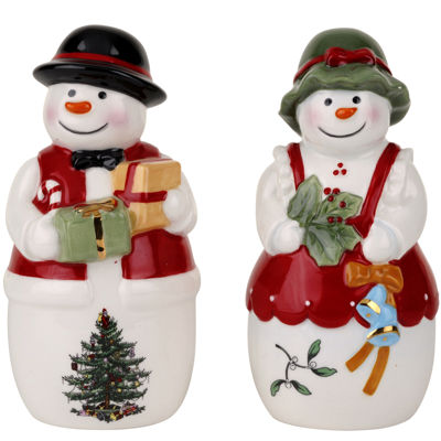 Spode® Christmas Tree Mr. & Mrs. Snowman Salt and Pepper Shaker Set