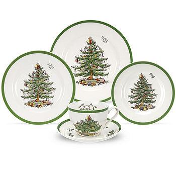 Spode Christmas Tree.Spode Christmas Tree 5 Pc Place Setting